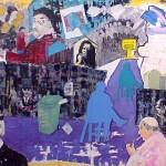 Les mots du mur - Clément Baeyens. Huile sur toile (2,44 sur 1,75m)